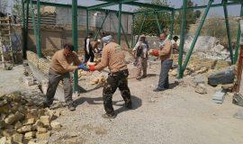 گزارش تصویری فعالیت های گروه جهادی شهید باکری در مناطق زلزله زده گیلانغرب