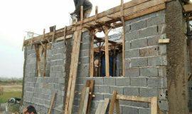 گزارش تصویری ساخت خانه در ایام نوروز توسط گروه جهادی خادم الشهید محمد سلیمانی
