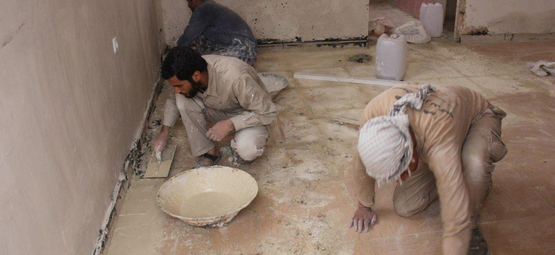 گزارش تصویری فعالیت عمرانی وفرهنگی گروه جهادی معبری به آسمان در روستاهای گرگاوان و  انارک