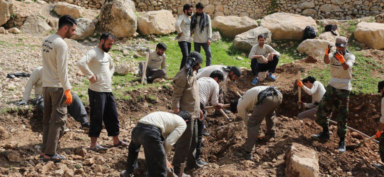 گزارش تصویری فعالیت عمرانی گروه جهادی مسافران خورشید در روستای شله دان