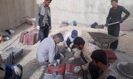 گزارش تصویری باز سازی شیرخوارگاه حضرت علی اصغر توسط گروه جهادی محبان علی (ع)