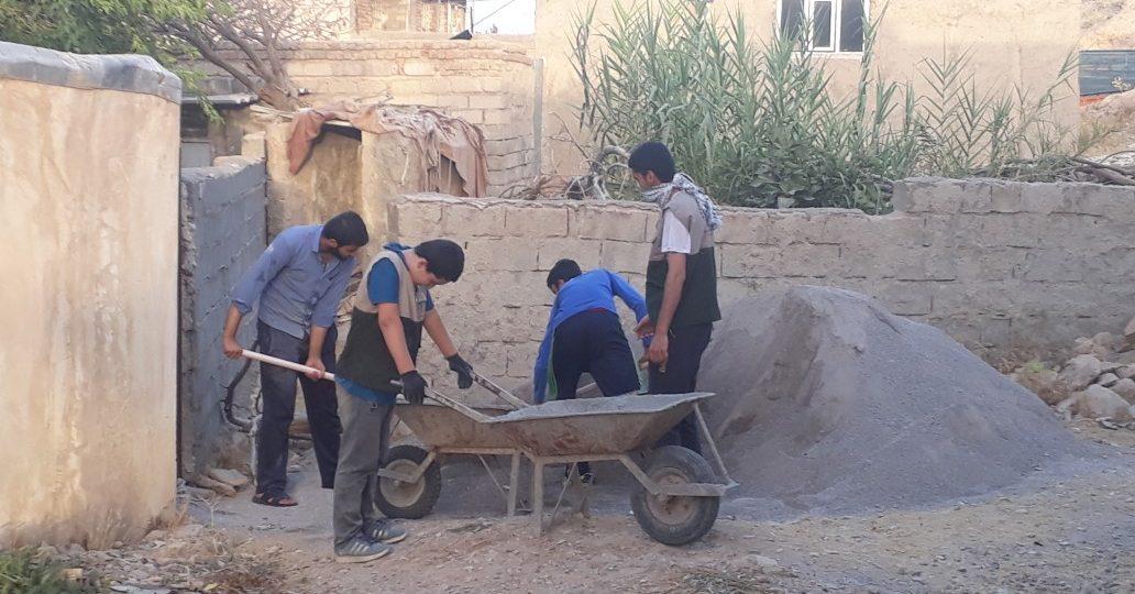 گزارش تصویری فعالیت عمرانی گروه جهادی محبان علی(ع)