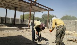 گزارش تصویری فعالیت عمرانی جهادگران دانشگاه صحنه در روستای عمارت