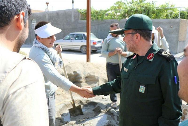 گزارش تصویری بازدید فرمانده سپاه شهدای آذربایجان غربی از اردوهای جهادی