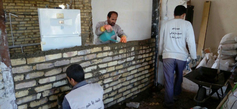گزارش تصویری فعالیت عمرانی گروه جهادی شهید معروفخانی در روستای پیرسقا
