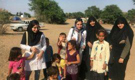 خدمت رسانی دانشجویان شهرستان البرز به مناطق سیل زده در استان خوزستان