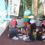 برپایی غرفه ویژه کودکان ایرانی و عراقی در مسیر منتهی به کربلا