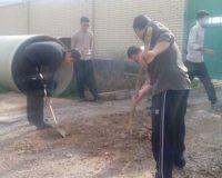 طلاب جهادی کرمانشاه به یاری محرومان خوزستان رفتند