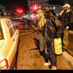 ضدعفونی معابر شهری از سوی گروه جهادی رسالتیها