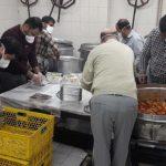 تامین روزانه غذای ۳ بیمارستان توسط نیروهای جهادی دانشگاه شریف