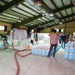 توزیع محلول ضدعفونی کننده با اتانول ۸۳ درصد در بین جهادگران