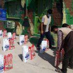 اهدای بستههای مهربانی در مناطق محروم چرام