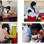 مشارکت دانشجویان تازه نفس و جهادی در مرکز واکسیناسیون زابل